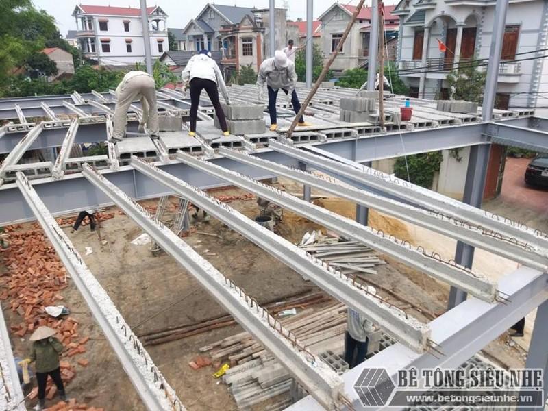 Làm nhà khung thép 2 tầng và sàn bê tông nhẹ cực nhanh tại Sóc Sơn, Hà Nội - 04