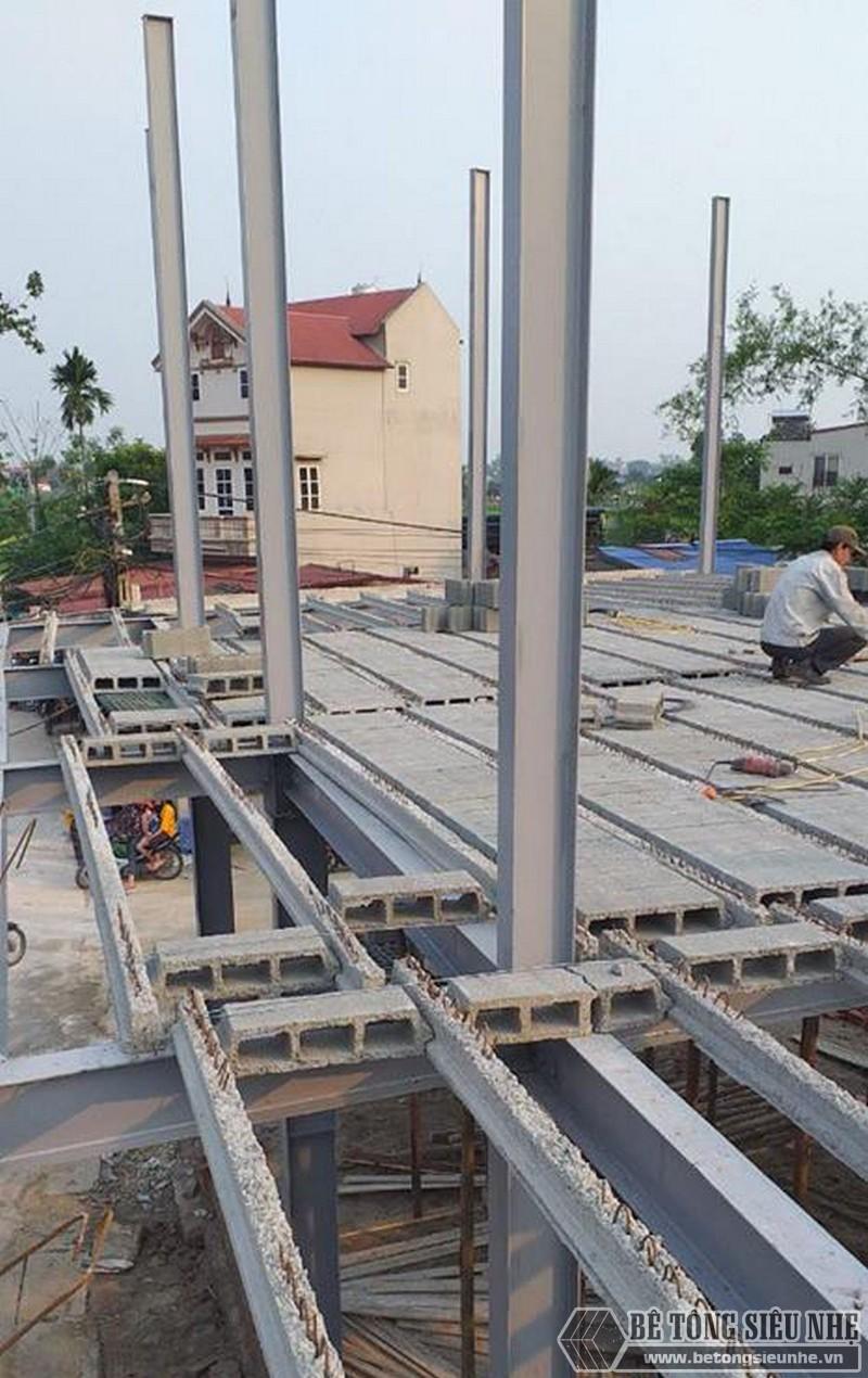 Làm nhà khung thép 2 tầng và sàn bê tông nhẹ cực nhanh tại Sóc Sơn, Hà Nội - 05