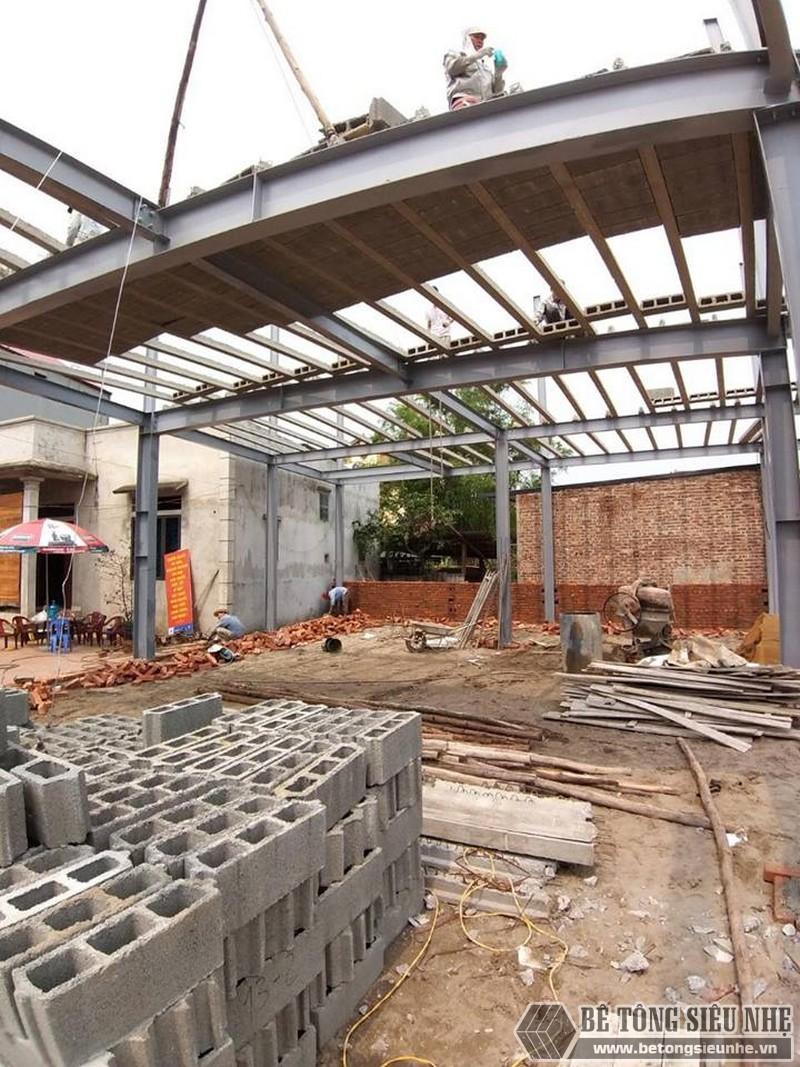 Làm nhà khung thép 2 tầng và sàn bê tông nhẹ cực nhanh tại Sóc Sơn, Hà Nội - 06