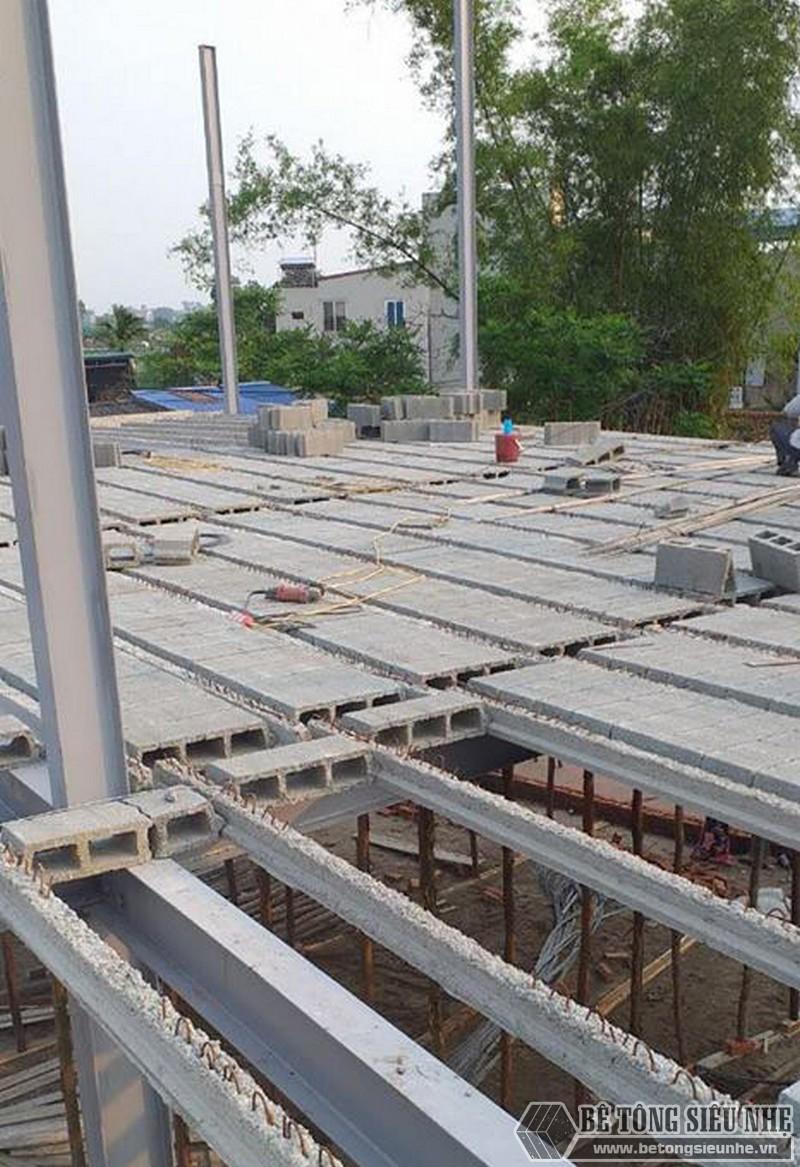 Làm nhà khung thép 2 tầng và sàn bê tông nhẹ cực nhanh tại Sóc Sơn, Hà Nội - 07