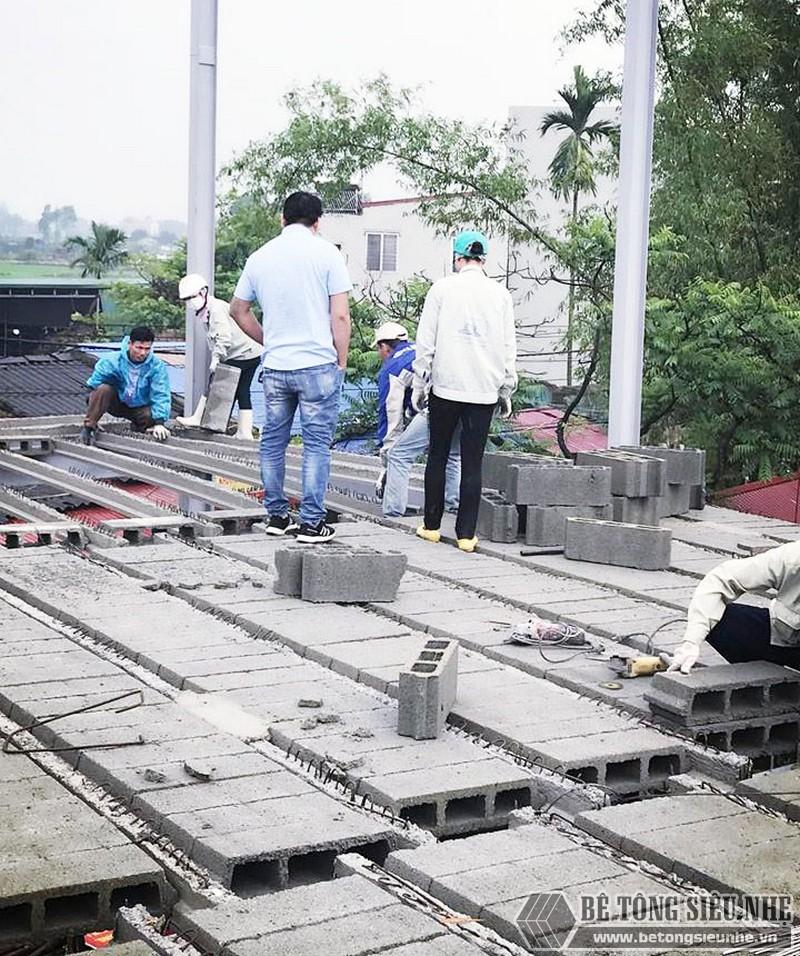 Thi công hệ khung thép tiền chế và sàn bê tông nhẹ nhà anh Ninh, Thạch Thất, Hà Nội - 03