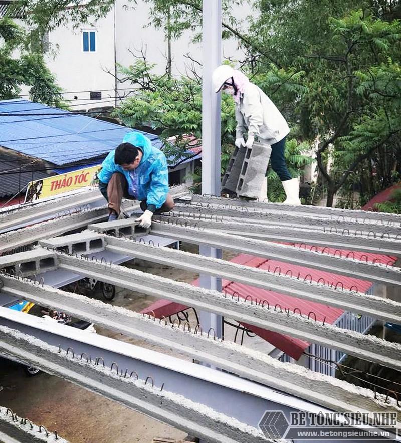 Thi công hệ khung thép tiền chế và sàn bê tông nhẹ nhà anh Ninh, Thạch Thất, Hà Nội - 01