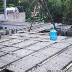 Xây nhà bằng hệ khung thép và sàn bê tông nhẹ, ảnh thực tế tại Thạch Thất, Hà Nội