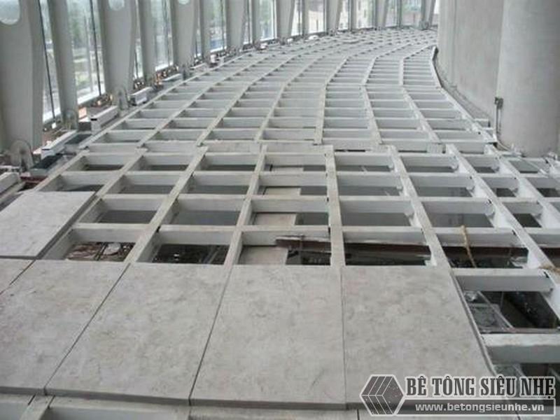 Thi công sàn bằng tấm bê tông đúc sẵn