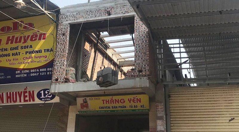 Thi công bê tông siêu nhẹ nâng thêm tầng nhà anh Thắng, Thạch Thất, Hà Nội - 01