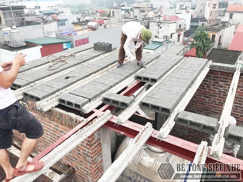 Làm nhà 5 tầng bằng khung thép tiền chế và bê tông siêu nhẹ tại Từ Liêm, Hà Nội cho gia đình anh Măng - 03