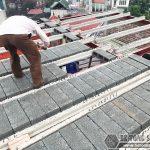 Xây nhà 5 tầng bằng khung thép tiền chế và bê tông siêu nhẹ nhà anh Măng, Từ Liêm, Hà Nội