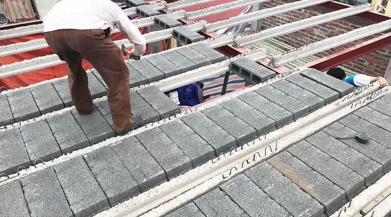 Làm nhà 5 tầng bằng khung thép tiền chế và bê tông siêu nhẹ tại Từ Liêm, Hà Nội cho gia đình anh Măng - 04