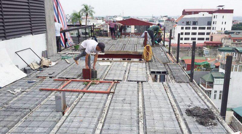 Làm nhà khung thép, sàn bê tông siêu nhẹ cho công trình 5 tầng tại Tây Hồ, Hà Nội - 01