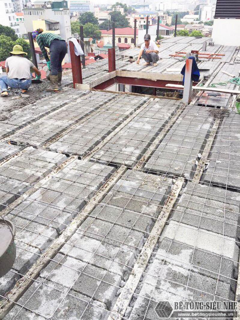 Làm nhà khung thép, sàn bê tông siêu nhẹ cho công trình 5 tầng tại Tây Hồ, Hà Nội - 07