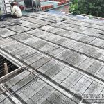 Thi công sàn bê tông siêu nhẹ nâng tầng tại Mê Linh, Hà Nội nhà anh Hoặc