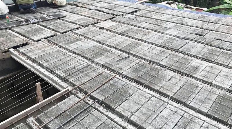 Thi công bê tông siêu nhẹ để nâng tầng cho nhà anh Hoặc, Mê Linh, Hà Nội - 04