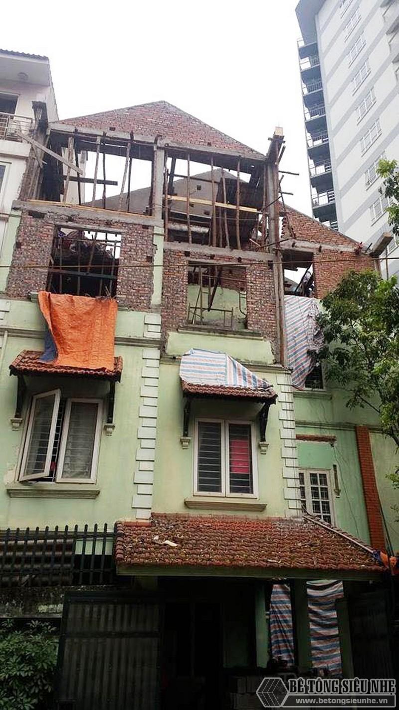 Nâng tầng, làm mái nhà bằng bê tông siêu nhẹ tại Gia Lâm, Hà Nội nhà anh Kiên - 01