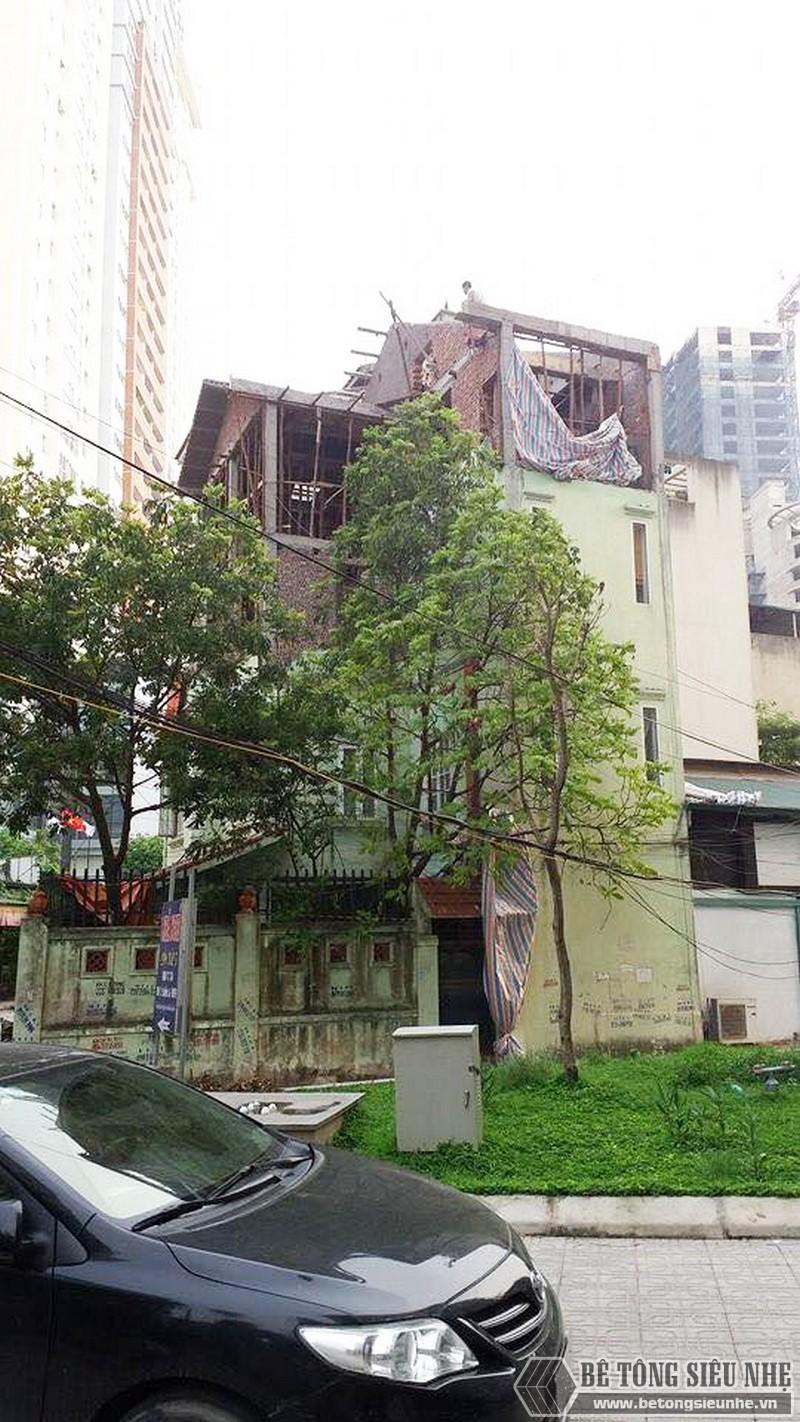 Nâng tầng, làm mái nhà bằng bê tông siêu nhẹ tại Gia Lâm, Hà Nội nhà anh Kiên - 05