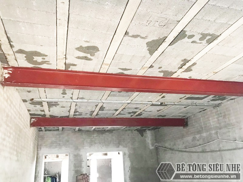 Công trình thực tế xây nhà bằng khung thép tiền chế và sàn bê tông nhẹ tại Thanh Xuân, Hà Nội - 01