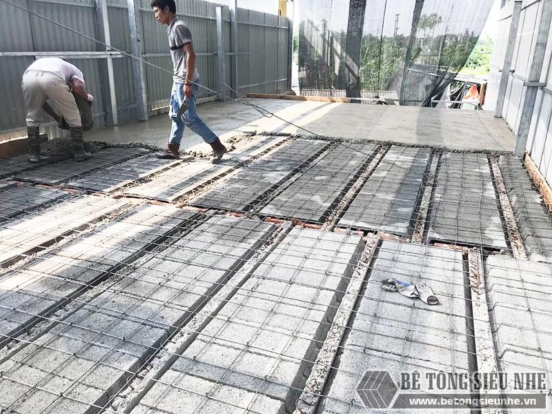 Công trình thực tế xây nhà bằng khung thép tiền chế và sàn bê tông nhẹ tại Thanh Xuân, Hà Nội - 03