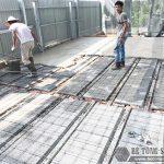 Công trình thực tế xây nhà bằng khung thép tiền chế và sàn bê tông nhẹ tại Thanh Xuân, Hà Nội