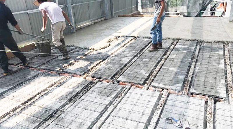 Công trình thực tế xây nhà bằng khung thép tiền chế và sàn bê tông nhẹ tại Thanh Xuân, Hà Nội - 04