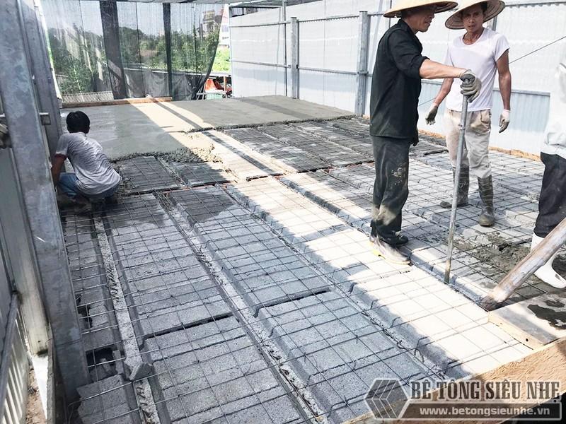 Công trình thực tế xây nhà bằng khung thép tiền chế và sàn bê tông nhẹ tại Thanh Xuân, Hà Nội - 05
