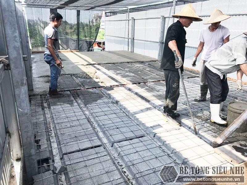 Công trình thực tế xây nhà bằng khung thép tiền chế và sàn bê tông nhẹ tại Thanh Xuân, Hà Nội - 06