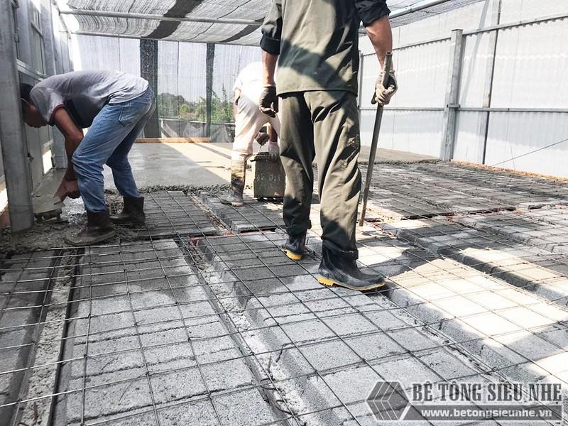 Công trình thực tế xây nhà bằng khung thép tiền chế và sàn bê tông nhẹ tại Thanh Xuân, Hà Nội - 07