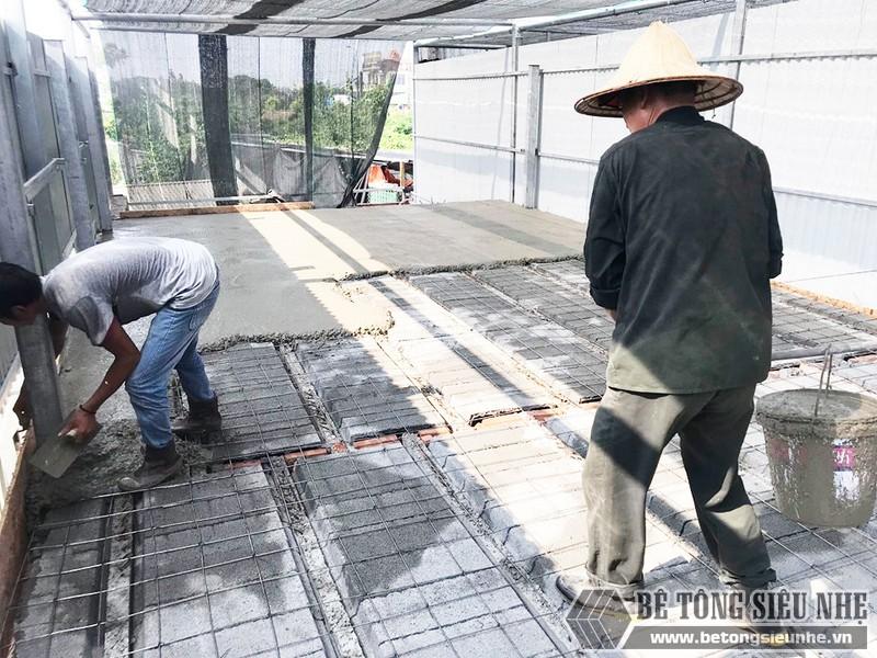 Công trình thực tế xây nhà bằng khung thép tiền chế và sàn bê tông nhẹ tại Thanh Xuân, Hà Nội - 08