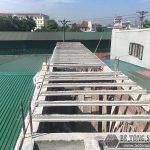 Đổ trần bằng bê tông siêu nhẹ tại Thạch Thất, Hà Nội nhà chị Mai
