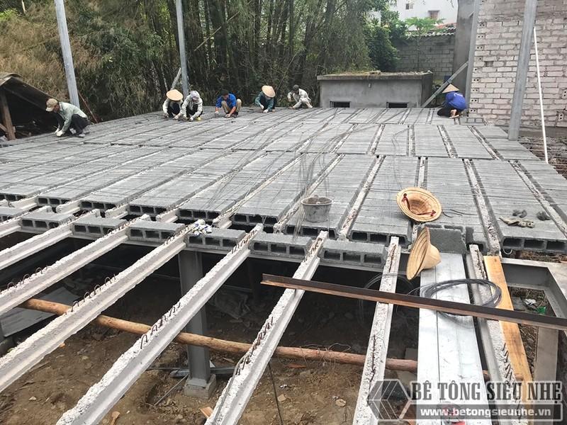 Thi công nhà khung thép, sàn bê tông nhẹ Xuân Mai tại Lạng Sơn - 07
