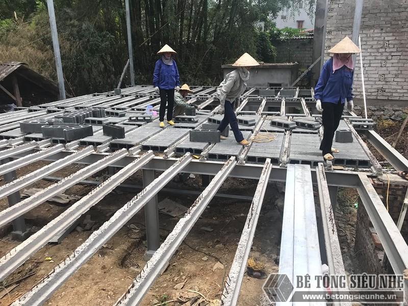Thi công nhà khung thép, sàn bê tông nhẹ Xuân Mai tại Lạng Sơn - 03