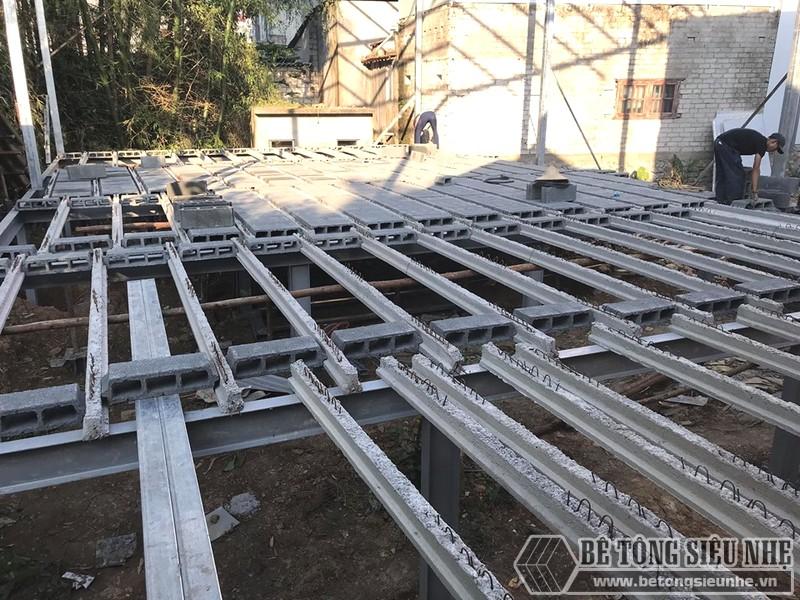 Thi công nhà khung thép, sàn bê tông nhẹ Xuân Mai tại Lạng Sơn - 06