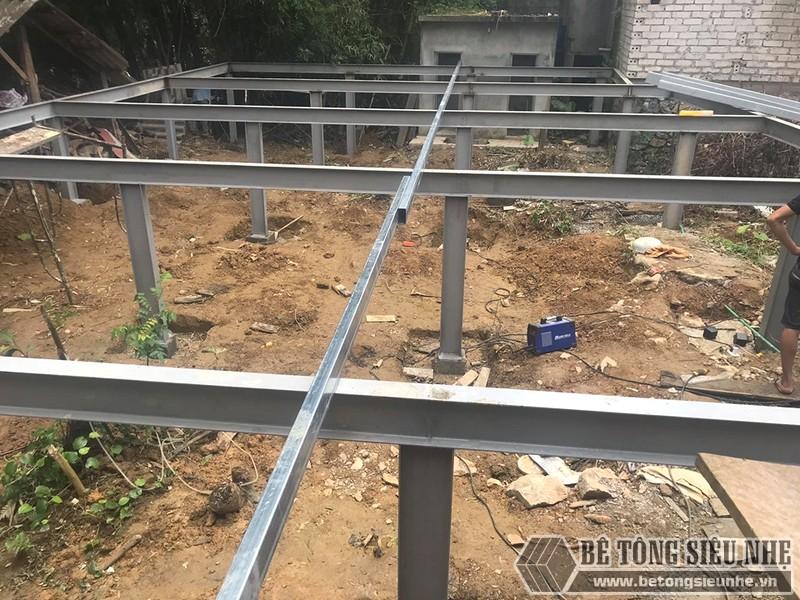 Thi công nhà khung thép, sàn bê tông nhẹ Xuân Mai tại Lạng Sơn - 01