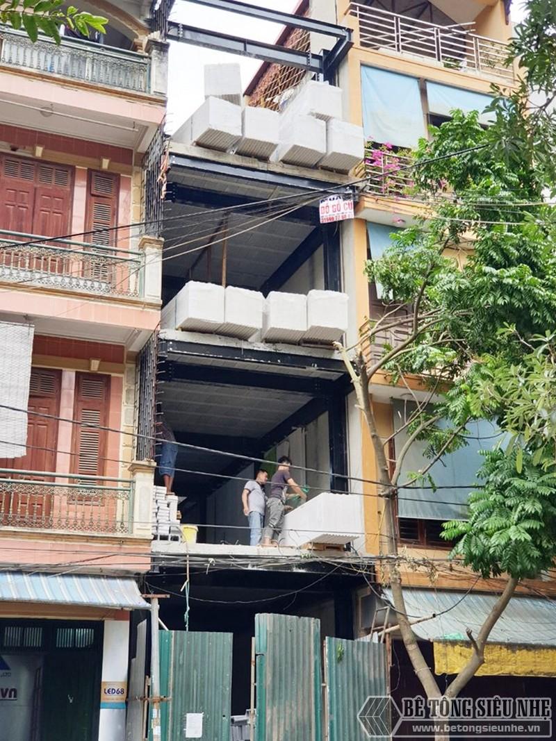 Xây nhà bằng 100% vật liệu nhẹ tại Hoàn Kiếm, Hà Nội nhà anh Phúc - 07