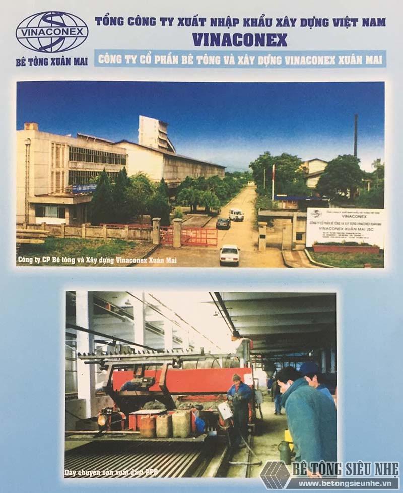 Nhà máy sản xuất bê tông siêu nhẹ Vinaconex Xuân Mai