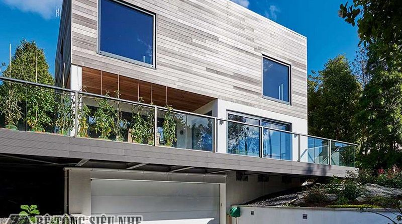 Xây nhà có hầm và cao tầng bằng phương pháp dựng khung thép tiền chế và sàn bê tông siêu nhẹ