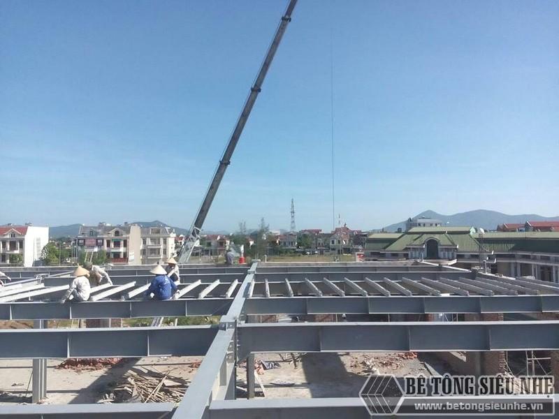 Thi công nhà khung thép, bê tông siêu nhẹ cho xưởng may tại Nam Định - 06