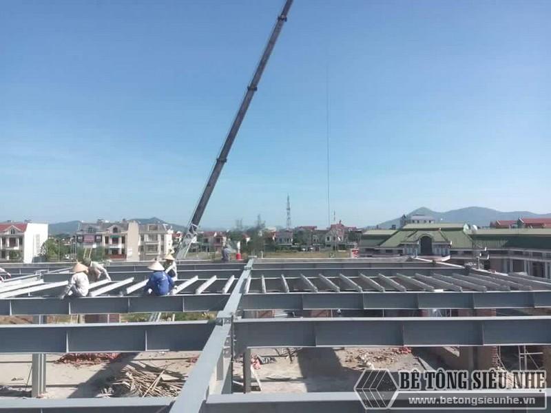 Thi công nhà khung thép, bê tông siêu nhẹ cho xưởng may tại Nam Định - 05