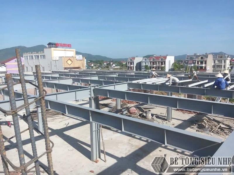 Thi công nhà khung thép, bê tông siêu nhẹ cho xưởng may tại Nam Định - 04