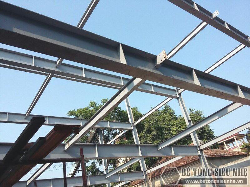 Thi công nhà khung thép, bê tông siêu nhẹ cho xưởng may tại Nam Định - 03
