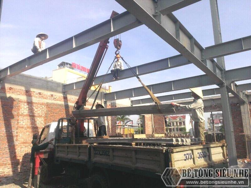 Thi công nhà khung thép, bê tông siêu nhẹ cho xưởng may tại Nam Định - 02