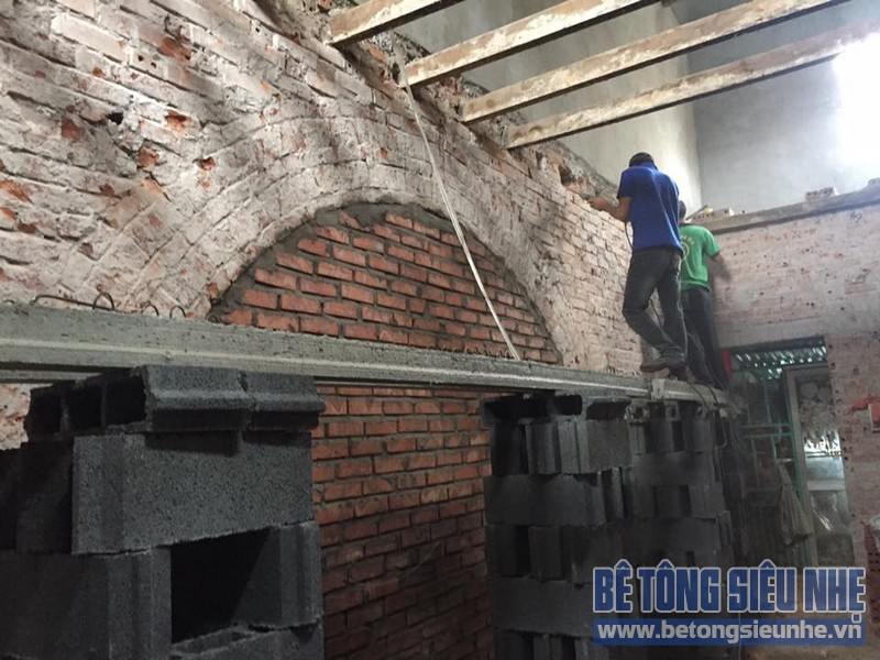 Xây nhà bằng khung thép tiền chế hoàn toàn làm được tầng hầm - công trình thực tế của betongsieunhe.vn tại Hà Nội