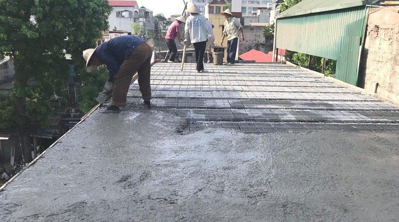 Thi công sàn bê tông nhẹ nhà anh Dũng, Hoàng Mai, Hà Nội - 04