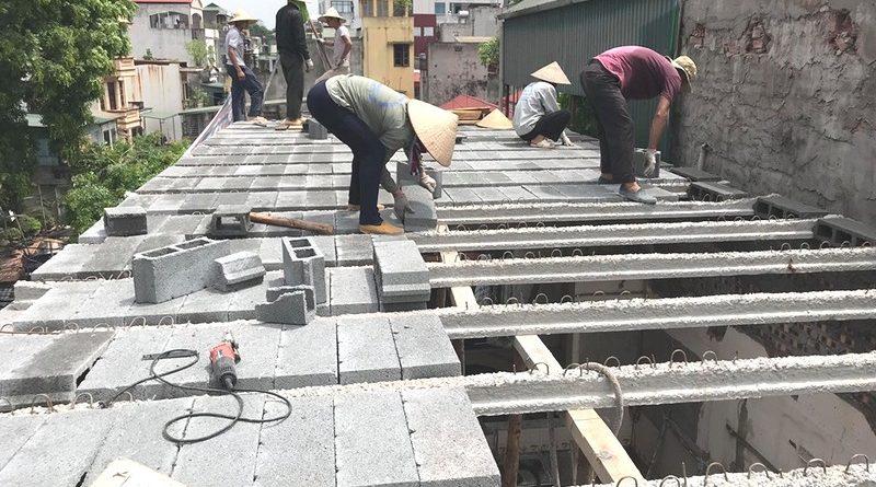 Sàn bê tông nhẹ được thi công bằng phương pháp lắp ghép
