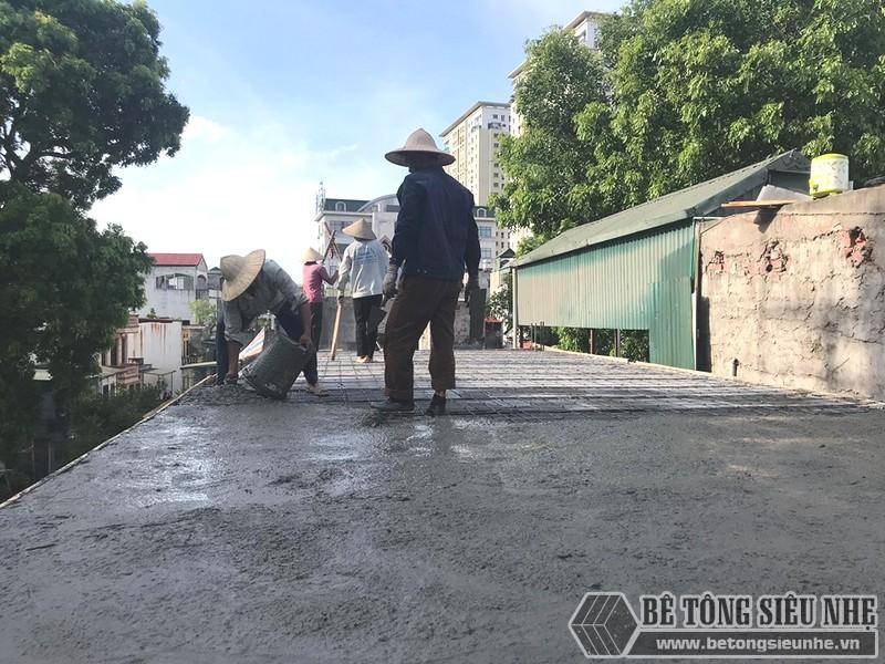 Thi công sàn bê tông nhẹ nhà anh Dũng, Hoàng Mai, Hà Nội - 07