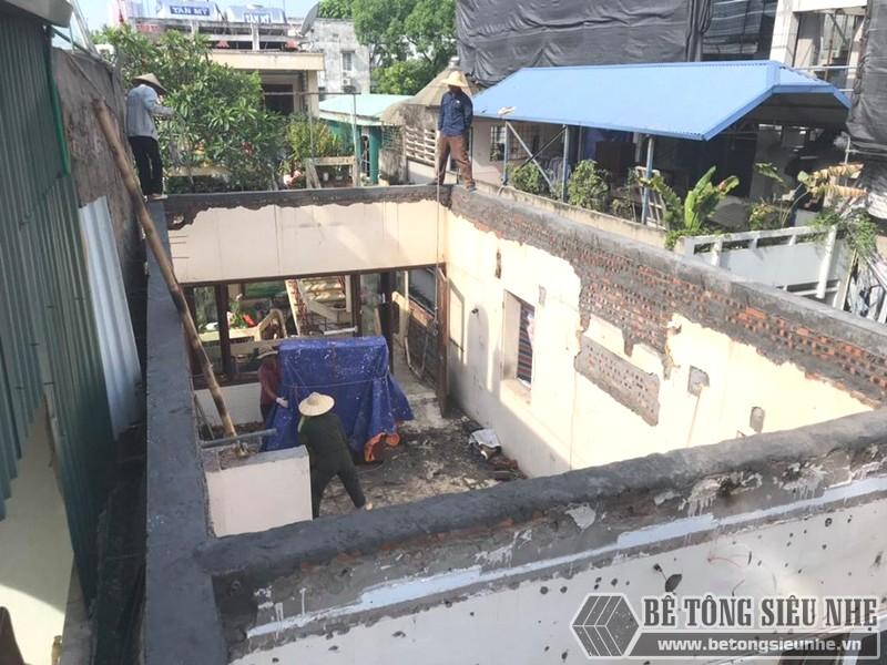 Thi công sàn bê tông nhẹ nhà anh Dũng, Hoàng Mai, Hà Nội - 01