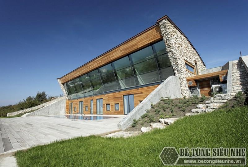 +10 mẫu nhà cao tầng có hầm đẹp lung linh được xây dựng bằngkhung thép tiền chế và làm sàn panel