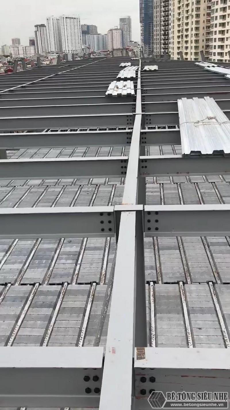 Khung thép tiền chế được lắp ghép sẵn để đặt bê tông nhẹ