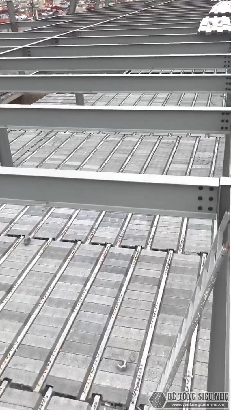 Thi công khung thép tiền chế, sàn bê tông nhẹ tại Cầu giấy, Hà Nội - 04