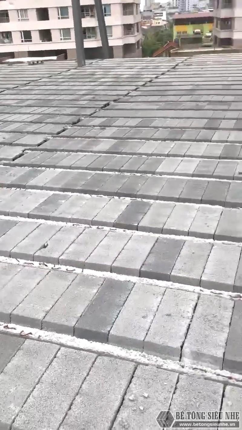 Thi công khung thép tiền chế, sàn bê tông nhẹ tại Cầu giấy, Hà Nội - 07