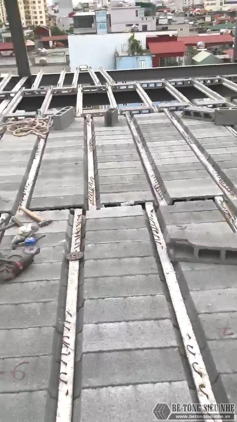 Thi công khung thép tiền chế, sàn bê tông nhẹ tại Cầu giấy, Hà Nội - 08
