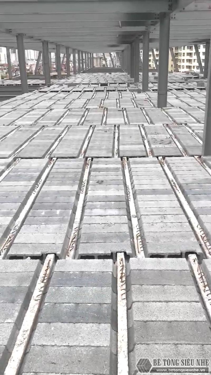 Thi công khung thép tiền chế, sàn bê tông nhẹ tại Cầu giấy, Hà Nội - 09